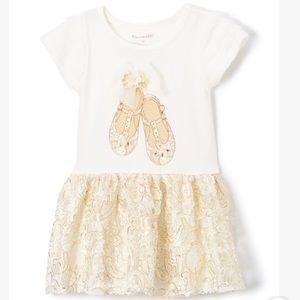 Off-White Lace-Skirt Drop-Waist Dress